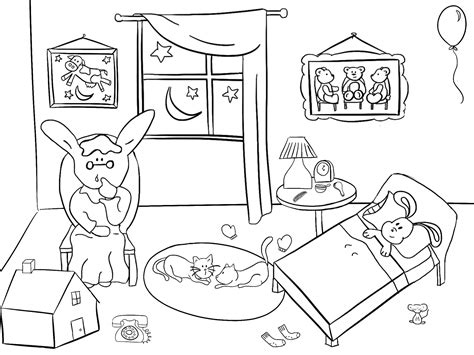 Goodnight Moon Coloring Pages goodnight moon