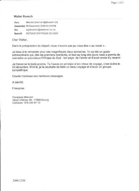 Mod Le De Lettre De Recommandation Apr S Un Stage Exemple De Lettre De Remerciement Pour Une Recommandation Covering Letter Exle