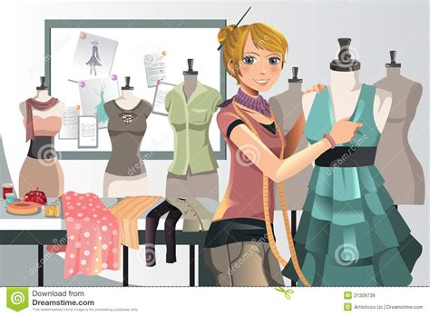 fashion designer at work stock vector image of clothing