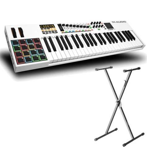 midi keyboard controller stand m audio code 49 usb midi controller keyboard with adam