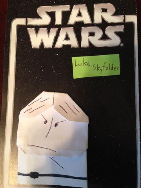 Origami Luke Skywalker - my luke skywalker origami yoda