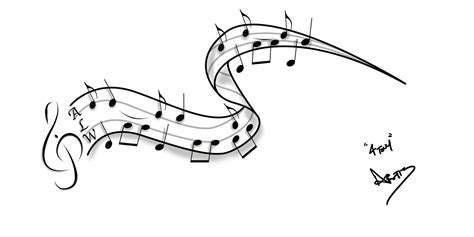 sheet music tattoo 14 simple note designs images note on