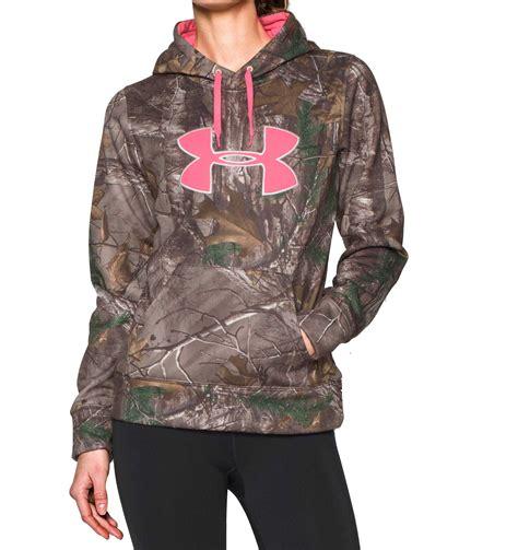 womens realtree camo hoodie sweatshirt armour 1265757 947 s camo big logo hoodie in