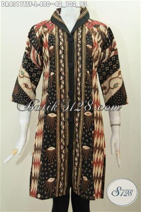 Blus Kerja Wanita Smp201 baju dress batik elegan dan mewah seragam kerja wanita karir til berkelas baju batik tulis