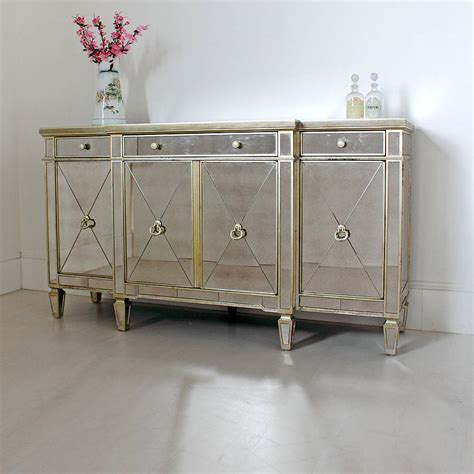 Antique Mirrored Sideboard antique mirrored sideboard by out there interiors notonthehighstreet