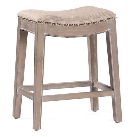 Country Stools by Pair Country Brass Nail Heads Linen Counter