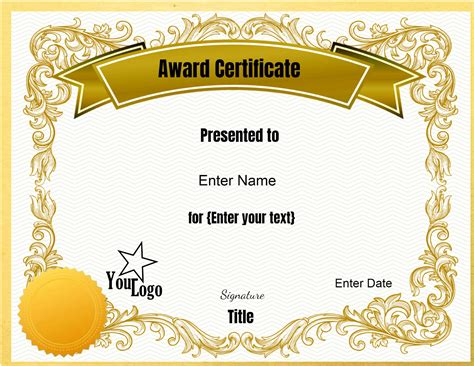 Certificate Templates Awards Template
