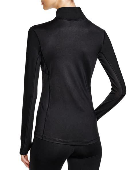 Sweter Jaket Ziper Nike lyst nike pro hyperwarm max half zip jacket in black