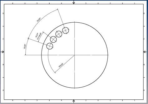 hole pattern drawing how do you dimension a semi circular pattern on a print