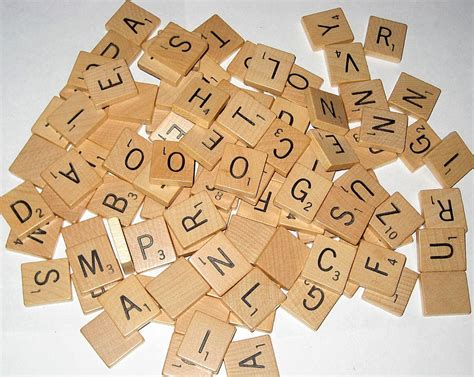 wooden scrabble letter tiles 100 vintage 1953 wooden scrabble letter tiles for altered