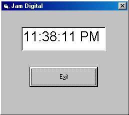 coding untuk membuat jam digital membuat jam digital dengan visual basic focus display corp