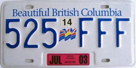 Bc License Plate Sticker