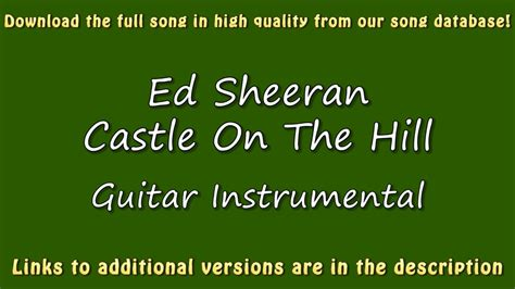 download mp3 ed sheeran castle on the hill ed sheeran castle on the hill guitar karaoke youtube