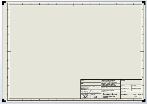 solidworks templates border architectural for a4 paper studio design