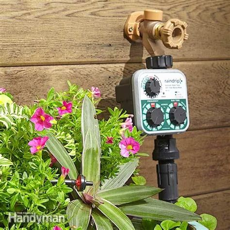 install  irrigation system   yard drip