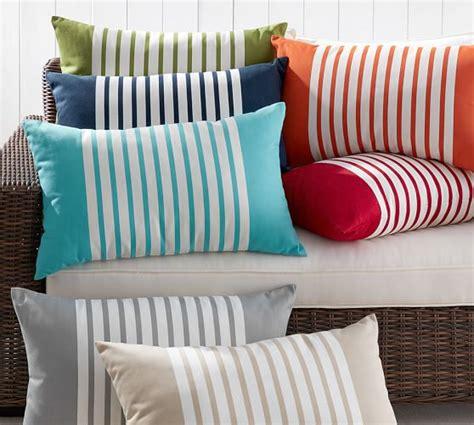 pottery barn indoor outdoor sofa mariner stripe indoor outdoor pillow pottery barn