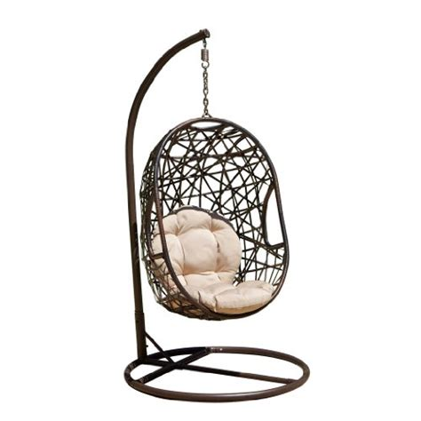 egg shaped outdoor swing chair guerneville egg shaped swing chair outdoorandabout com