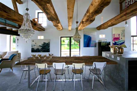 Rustic Meets Modern In An Old Barn Decoholic Rustic Modern Interior Design