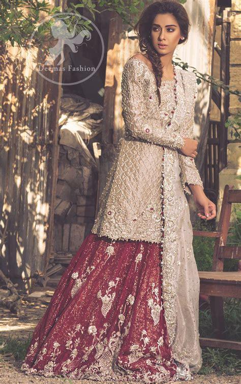 Fawn Bridal Wear Lehenga   Short Shirt   Dupatta   Deep