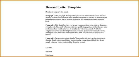 letter of demand template 5 formal demand letter template financial statement form