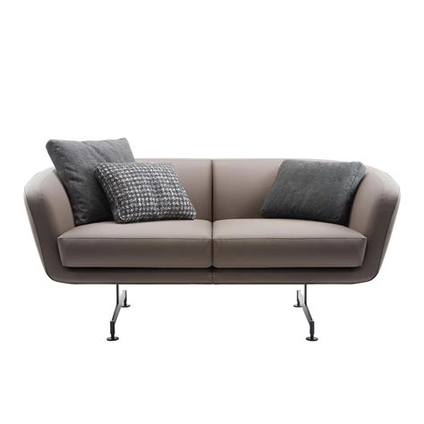 Kartell Sofa by Kartell Betty 2 Seater Sofa Leather Ambientedirect