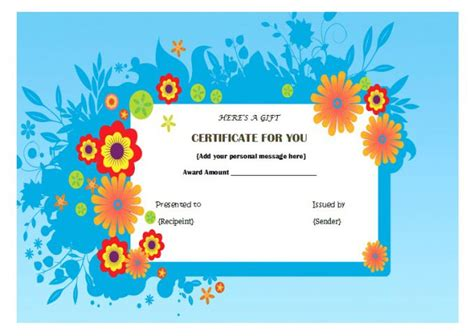 pedicure gift certificate template top 10 specialized manicure gift certificate templates