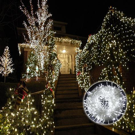 50m 250led white christmas string fairy lights outdoor