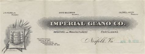 Imperial College Letterhead imperial guano the s tale