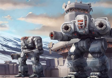 Of Robots Heavy Gun Barrel Ng 4 headquarters guard by shimmering sword on deviantart