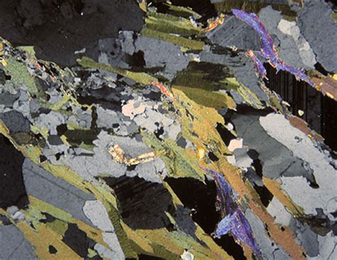 biotite under thin section studying the ou s260 thin rock sections under the microscope