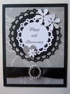 handmade 25th anniversary card by bellacardcreations