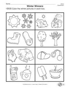 results for preschool winter worksheets guest the mailbox