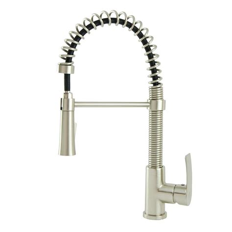 Coiled Kitchen Faucet Italia Contemporary Residential Single Handle Coil Pull Sprayer Kitchen Faucet In