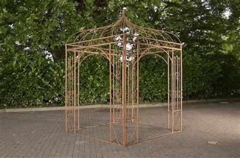 rosenpavillon kaufen romantischer eisenpavillon manja gazebo rosenspalier eckig