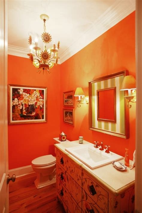Orange Bathroom Ideas | 31 cool orange bathroom design ideas digsdigs