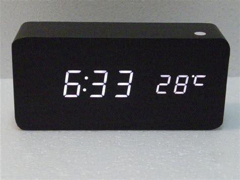 modern digital desk clock 2018 modern desk clock black wood usb aaa cube alarm