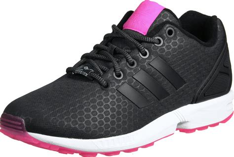 adidas zx flux w shoes black white pink