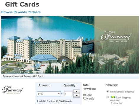 Fairmont Gift Card - rocking fairmont credit card free nights and elite benefits frequent miler