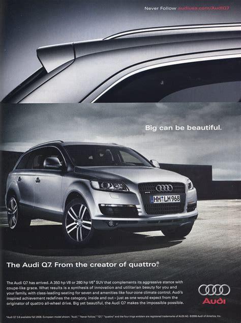 Audi Q7 Ad by Audi Q7 Vintage Car Ads