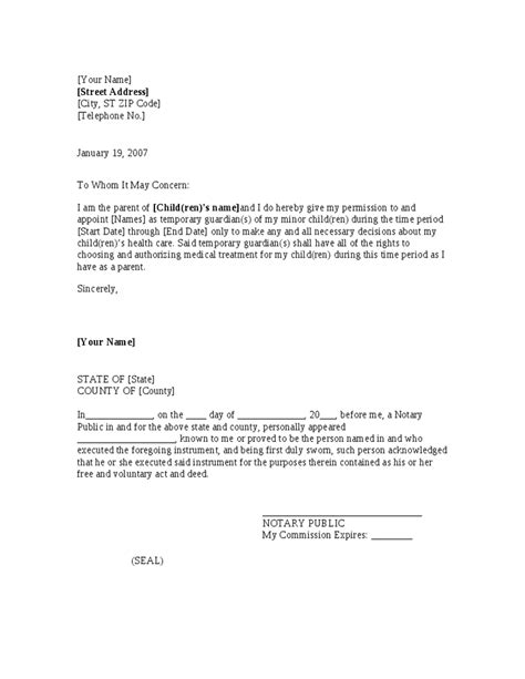 authorization letter for local guardian local guardian authorization letter docoments ojazlink