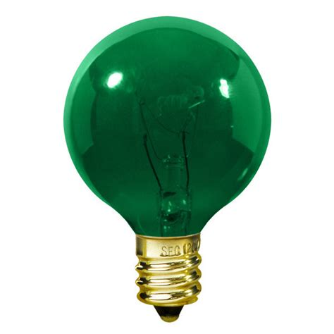 and green candelabra light bulbs 7 watt green g16 bulb intermediate base