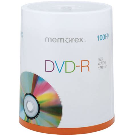 Memorex 4 7gb 16x Dvd R memorex dvd r 4 7gb 16x single sided discs 05641 b h photo