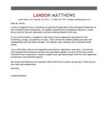 leading professional heavy equipment operator cover letter examples