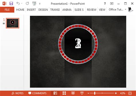 free animated countdown timer template for powerpoint