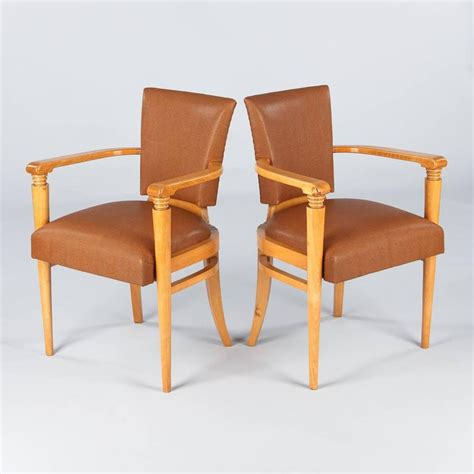 1930s armchairs for sale pair of french art deco birchwood armchairs 1930s for
