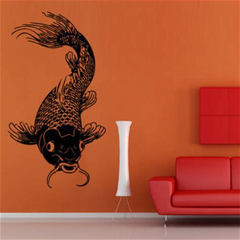 japanese koi wall decal asian style decoration wall decal art decor decals sticker koi from