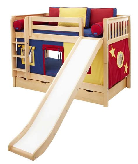 Bunk Bed W Slide Blue And Yellow Maxtrix Playhouse Bunk Bed In W Slide 720 1s