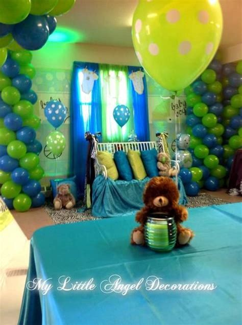 Blue And Green Themed Baby Shower by Click Here For Polka Dot Themed Baby Shower