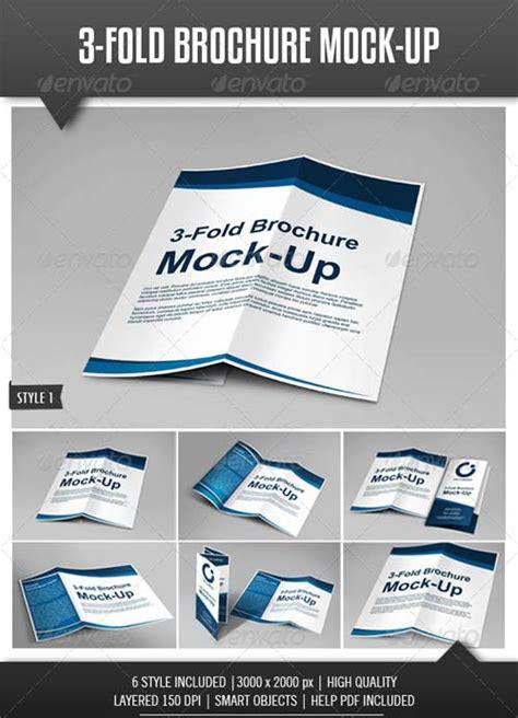 brochure mock up template graphicriver tri fold brochure mock up