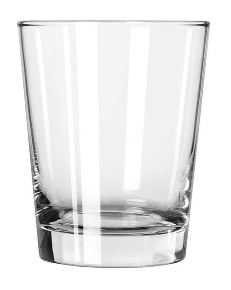 double old fashioned glass heavy base finedge libbey glass
